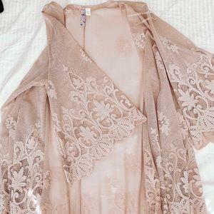 Francesca's blush Cardigan